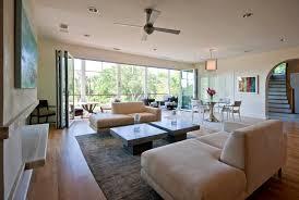 modern island beach home retractable wall tropical living room