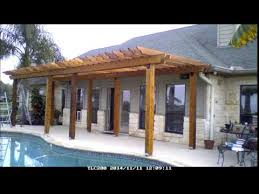 Building A Pergola Attached To The House by Build A Pergola In 15 Minutes Youtube
