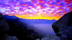 Nevada travel world images Sunset beautiful morning clouds sequoia kings canyon national jpg