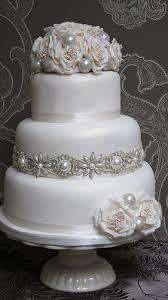 wedding cake sederhana vintage pearl wedding cake perkawinan bunga dan kue