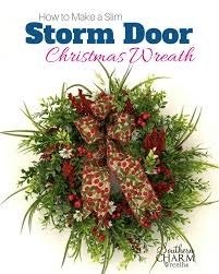 how to make wreaths how to make a slim door christmas wreath southern charm wreaths