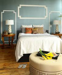 mediterranean wall decor bedroom modern with crown molding blue wall