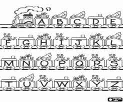 coloriage lettres alphabet à imprimer