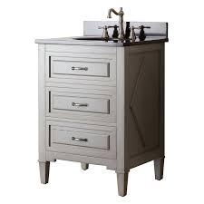 bathroom classic white vanity with solid black countertop and