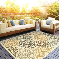 Yellow And Grey Outdoor Rug Wayfair Outdoor Rugs Yellow Brown Indoor Outdoor Area Rug Fifty2 Co