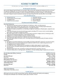 Loss Prevention Resume Weapons Repair Sample Resume