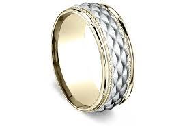 comfort fit wedding bands men s 8mm patterned comfort fit wedding ring in 14kt yellow gold