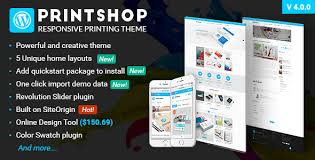 design templates print simple fashion ad banner printshop wordpress responsive printing theme by netbaseteam