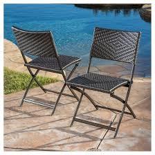 El Patio Furniture el paso set of 2 wicker patio folding chairs brown christopher
