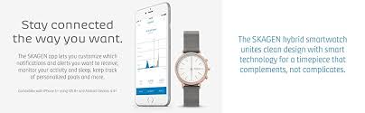 hybrid kitchen travel technology software application amazon com skagen hagen titanium and leather hybrid smartwatch