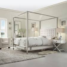 queen canopy bed homesullivan taraval white queen canopy bed 40e739bq 1wlcpy the