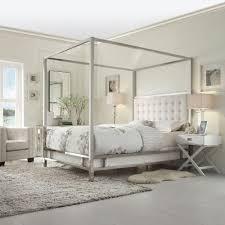 Upholstered Canopy Bed Homesullivan Taraval White Canopy Bed 40e739bq 1wlcpy The