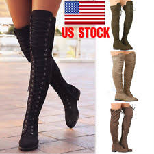 womens thigh high boots size 11 s knee boots ebay