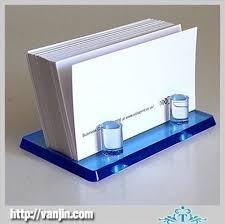 mini ingenious polished blue table top plexiglass name business