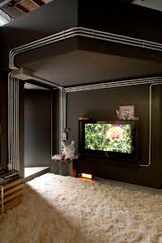 contemporary brazilian apartment exposed conduit as an