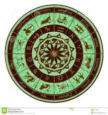 zodiac wheel horoscope stock image image 10343241