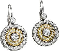 yellow gold earrings simon g white and yellow gold circle earrings sg pe102