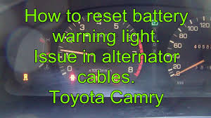 battery for toyota camry 2000 how to reset battery warning light toyota camry issue in