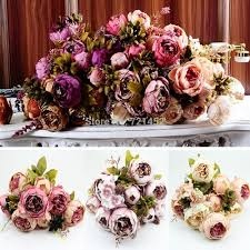 compare prices on peonies silk flowers online shopping buy low