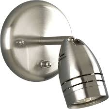 Shop Wall Sconces At Lowes by Shop Progress Lighting Directional 5 In W 1 Light Brushed Nickel