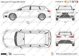 the blueprints com vector drawing seat leon st cupra 280
