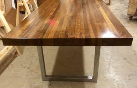 this beautiful 3 walnut butcher block table is completely built this beautiful 3 walnut butcher block table is completely built by hand this table comes in a variety of sizes and species of wood which include knotty