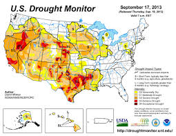 Us Drought Map 19 September 2013 Coyote Gulch