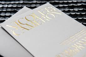 gold foil wedding invitations gramercy foil wedding invitation foiled invitations