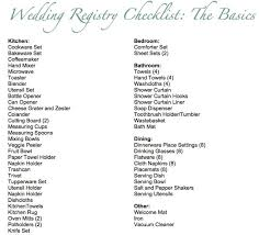 wedding registeries basic wedding registry checklist the mr mrs