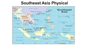 Asia Physical Map East And Southeast Asia Map Political Maps Physical Maps Ppt