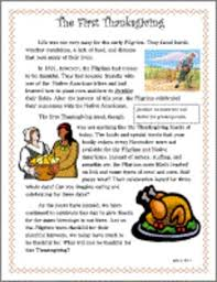 this is a free thanksgiving passage that can be used during
