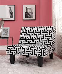 Accent Chairs Black And White Dhp Furniture Kebo Chair Black And White Geometric Pattern