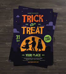 trick or treat halloween kids flyer by guuver graphicriver