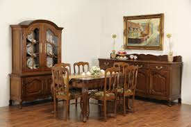 sold country french carved oak 1920 u0027s dining set table 2 draw