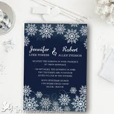 navy blue wedding invitations navy blue snowflake winter wedding invitations iwi345 wedding