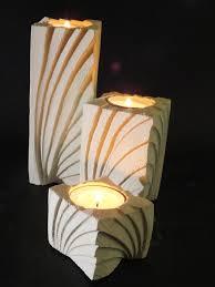 porta candele tris porta candele e fiori in pietra leccese ventaglio candele