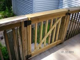 pvc deck railing gate deck design and ideas
