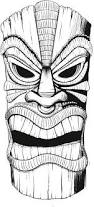 tiki drawing black and white google search survivor ideas