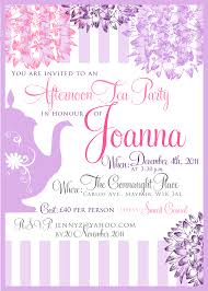 tea party invitations samples wedding invitation sample