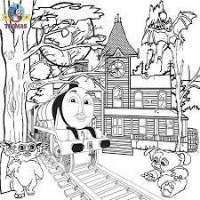 thomas train halloween coloring pages glum