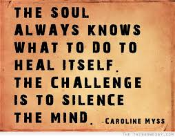 Challenge What To Do The Soul Always Knows What To Do To Heal Itself The Challenge Is
