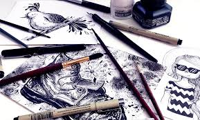 pen and ink illustration the basics for creating magical drawings