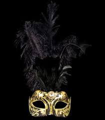 gold masquerade mask stella feather masquerade mask gold black