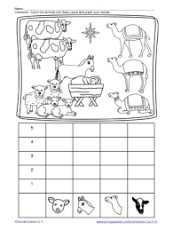 nativity story with free graphing printable faith filled freebies