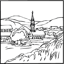 printable scenery coloring pages landscape coloring pages