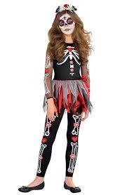 Halloween Skeleton Costume Dead Girls Fancy Dress Halloween Skeleton Skull Kids