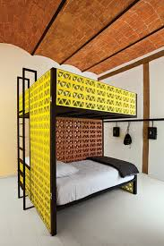 Budget Bunk Beds Splashy Bunk Beds Made From Acid Green Lattice Brick At The