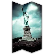 canvas room divider statue of liberty canvas privacy screen folding 3 panel room divider