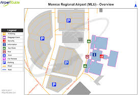 Dallas Terminal Map by Monroe Monroe Regional Mlu Airport Terminal Maps