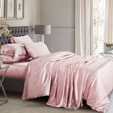 suede rose silk bed linen machine washable